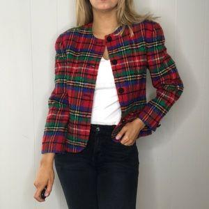 Pendleton Vintage | Tartan Plaid Blazer Jacket 10